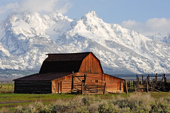 Mormon Row (bhophotos) Tags: usa mountains nature clouds barn landscape nikon wyoming tetons corral wy grandtetonnationalpark gtnp mormonrow d700 jacksonholevalley travelgeotagged 70200mmf28gvrii