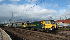 70013 At Doncaster (Derbyshire Harrier) Tags: railway goods railwaystation doncaster southyorkshire freightliner 2013 70013 heavyhaul