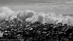 storm surge (plachance) Tags: ocean california blackandwhite bw beach monochrome weather rock coast surf canonef24105f4l