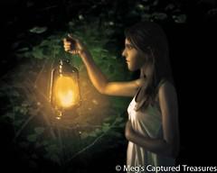 guiding light (megscapturedtreasures) Tags: light girl lantern
