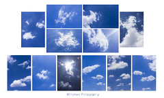 Skies. (VigneshKrishnan) Tags: blue sky clouds canon 50mm diptych iso hues 7d canoneos chenai canondigital canonef50mmf18ii canoneos7d 8frames canon7d colorsinourworld cannoneos7d 8framesfotography diptychtechnique