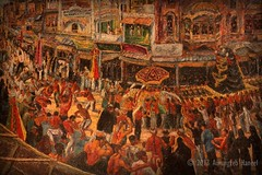 Anna Molka's depiction of Ashura Procession in Lahore (AurangzebH) Tags: pakistan art museum painting islam religion shia ashura procession lahore annamolka