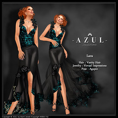 (IMAGE)Lara (c)-AZUL-byMamiJewell (mami_jewell) Tags: new azul glitter evening dress release formal skirt gown sequin