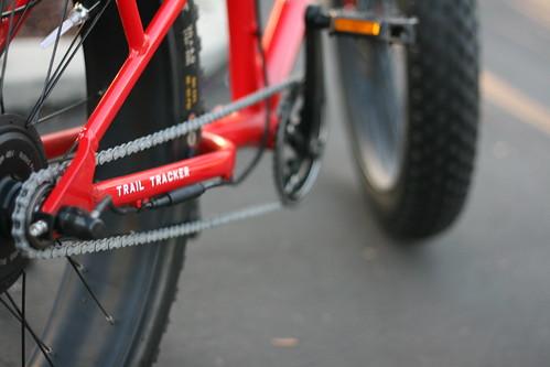 red bike bicycle electric saratoga ebike bikeparty stevenscreekboulevard sanjosebikeparty sjbp pedego