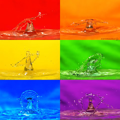 Pop Art Water Drop (RichardBeech) Tags: macro water rainbow drop popart splash highspeed multicolour tsc flashgun speedlite sigma15028macro sundaychallenge canon5dmarkii richardbeech