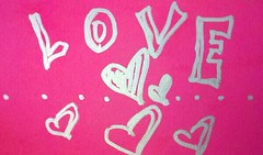 Love. (Dena Michele Rosko) Tags: pink love paper handmade letters card calligraphy minimalist stationary andrography streamzoo