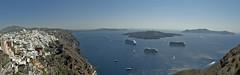 Santorini - Thira & Volcano (rupertalbe - rupertalbegraphic) Tags: costa greek volcano mediterraneo santorini greece grecia crociera thira msc fira cicladi ciclades crociere rupertalbe albertomariani rupertalbegraphic