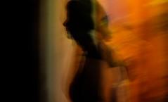 """""""Spacetime Continuum"""" (http://mathiaskellermannphotography.com) Tags: longexposure light shadow red copyright orange woman black color wonderful dark rouge amazing noir femme ombre exposition colored fujifilm pause chaud profil spacetime continuum longue xe1 mathiaskellermann"""