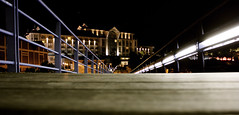 V&A Waterfront (Si Paton) Tags: night southafrica lights hotel waterfront capetown walkway railing planks