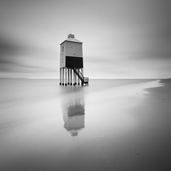 The Lighthouse (Adam Clutterbuck) Tags: uk greatbritain england blackandwhite bw lighthouse seascape monochrome square landscape mono blackwhite unitedkingdom britain accepted1of100 somerset bn elements gb bandw sq greengage adamclutterbuck sqbw bwsq showinrecentset