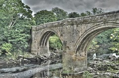 Devils Bridge, Kirkby Lonsdale (Ilovetodig0044) Tags: bridge england art english beautiful stone architecture river medieval cumbria british hdr devilsbridge kirkbylonsdale tonemapped greenscene blinkagain slaterphotography adamslater