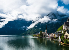 Hallstatt (Gin-Lung Cheng) Tags: austria europe hallstatt lake landscape location mountain unesco world upperaustria activity travel