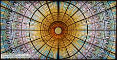 Palau de  la Msica Catalana  lucernario (josefrancisco.salgado) Tags: barcelona architecture spain arquitectura nikon europa europe skylight catalonia catalunya es nikkor catalua d4 palaudelamsicacatalana orchestrahall llusdomnechimontaner claraboya saladeconciertos 2470mmf28g 2013062621371