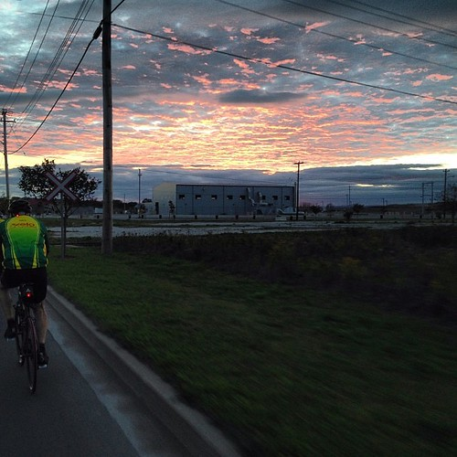 A #latergram of the red sky in Sydney during Saturday's ride.