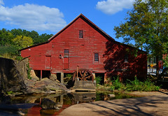 Rex Mill (davidwilliamreed) Tags: wood old red abandoned water wheel metal peeling paint rustic neglected rusty forgotten weathered siding crusty claytoncounty rexmill rexga