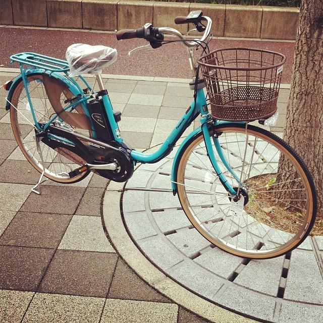 Panasonic スタイルviviDX 可愛い色ですよね~パイプキャリアは子供乗せ対応です! #eirin #panasonic #電動アシスト自転車