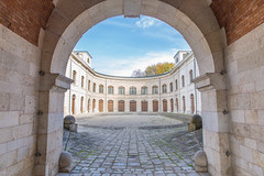 Enter the courtyard (GEHPhotos) Tags: autumn building architecture germany bavaria arch courtyard ingolstadt phototype canoneos6d turmtriva