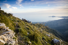 (Childe Roland) Tags: travel sunset sky italy mountains green photography nikon europe italia hiking earth trails photojournalism hills d7000