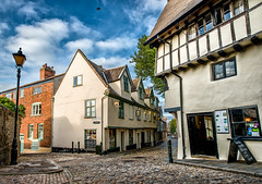 Elm Hill, Norwich, UK - COBBLE ROAD