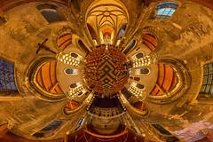 Little planet HDR des illuminations de Notre-Dame de Calais (jeje62) Tags: panorama glise bougies dri hdr calais 360 panoramique hugin autopano photomatix littleplanet petiteplante hdrengine
