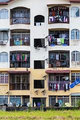 Malaysia-265 (Sean Maynard) Tags: canon balcony laundry adobe malaysia kualalumpur batucaves selangor lightroom 6d apartmentbuildings canon6d lightroom5