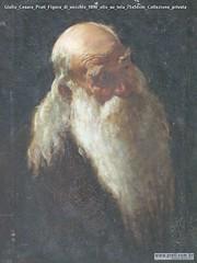 Giulio Cesare Prati Figura di vecchio 1890 olio su tela 75x54cm Collezione privata