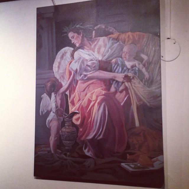 """David Rajas en la presentación de nueva Galeria de Arte """"PARALELO"""" #arte #art #arteenlima #artinlima #artista #peruvianartist #artistaperuano #artist"""