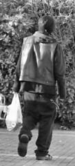 Rocker on the way to work (adam_moralee) Tags: street blackandwhite bw white black adam photography blackwhite rocker fujifilm bridgwater picoftheday whiteblack finepix1500 flickrphotooftheday moralee adammoralee vision:outdoor=0954