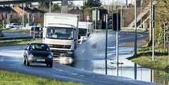 How big a wave can I make (jerry_lake) Tags: traffic splash floods a412