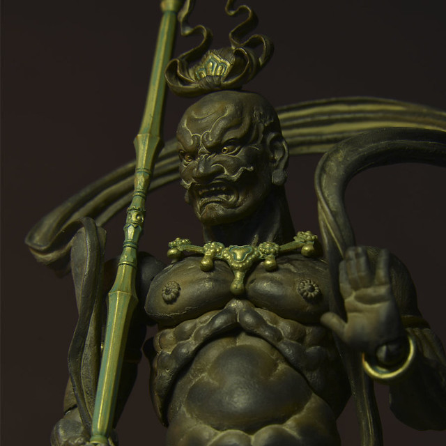 海洋堂 – REVOLTECH TAKEYA 018EX 金剛力士 阿形 木調版
