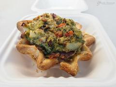 Broccoli Cheddar Pie (gapey) Tags: food truck work pie office olympus broccoli redmond togo 12mm omd redmondtowncenter rtc foodtruck glutenfree em5 sweetandsavorypie rtccampuseats
