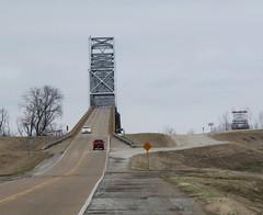 Helena Bridge, Phillips County (Ark.), 9 February 2014 (milanite) Tags: mississippi bridges mississippiriver arkansas us49 helenabridge phillipscountyark helenawesthelenaark coahomacountymiss