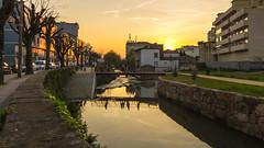Rio Este - Rua dos Barbosas (nunodanielcosta) Tags: bridge sunset pordosol sol portugal rio do ponte via este por braga minho pedonal
