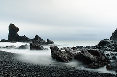Iceland-0303-125 (codyrossphoto) Tags: ocean longexposure travel winter sea coast iceland waves hiking lavafield