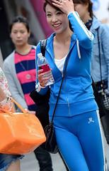 blue lady (3) (Steven pan 8) Tags: girls sexy girl beautiful beauty asian pretty legs skirt hotgirls pantyhose asiangirl hotgirl chinesegirl asianbeauty