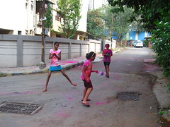 Holi 2014 (santosh.wadghule) Tags: playing colors children maharashtra holi pune colurs rangpanchami dhulivandan