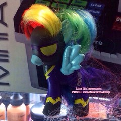 8 cm RainBow Dash Rainbow Power Figure  แฟนเรนโบว์แดช  ราคา 490฿ พร้อมส่ง +50฿ EMS   #sweetlovermakeup #rainbowdash #mylittlepony #figure #rainbow