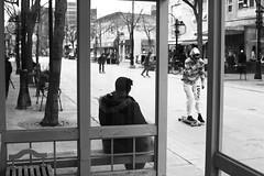 087/365 (local paparazzi (isthmusportrait.com)) Tags: street city people blackandwhite bw woman white black cold reflection blancoynegro blanco sunglasses bike composition contrast canon bench outdoors eos 50mm freedom spring pod furry waiting downtown raw afternoon skateboarding fuzzy f14 candid board negro wheels citylife streetphotography windy streetlife guys busstop jacket hoody skateboard skater usm madisonwi fullframe statestreet ef springtime onthestreet peoplewatching beautifulday autofocus alternativetransportation cr2 isthmus dirtyglass 50mmf14usm 400block 365project danecountywisconsin madisonmetro photoshopelements7 5dmarkii freedomskateshop canon5dmarkii pse7 localpaparazzi redskyrocketman lopaps isthmusportrait