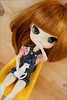 Sitting (gwennan) Tags: color macro cute colors japan closeup toy doll dal figure junplanning jfigure rotchan