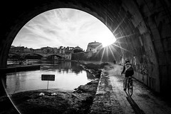 the light after (*magma*) Tags: street city light sun vatican rome roma bike backlight river lens cyclist fiume tunnel s vaticano tevere lungotevere flare ciclista bici angelo sole luce castel controluce sottopassaggio