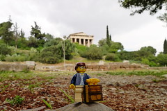 Travels of badger - Ancient Agora of Athens with the Temple of Hephaestus (enigmabadger) Tags: greek ruins lego fig roman columns greece temples minifig custom printed minifigure athenian   brickarms