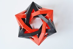Two Intersecting Wrinkled Octahedra v1.5 (Byriah Loper) (Byriah Loper) Tags: paper origami modular complex polygon paperfolding polyhedron modularorigami byriahloper