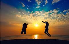 Capture (Chetan Krishna Photography) Tags: ocean blue sunset sun india beach beautiful clouds dawn fly jump shoot dusk rays bliss silhoette vizag vishakapatnam