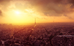 After The Rain (A-lain W-allior A-rtworks) Tags: street city sun paris france tower golden soleil nikon tour or eiffel hour nikkor rue montparnasse ville 2470 dore