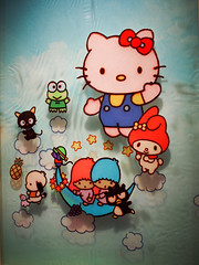 Hello Kitty Art by Edwin Ushiro (jfer21) Tags: art hellokitty sanrio badtzmaru chococat pochacco mymelody littletwinstars kerokeroppi edwinushiro olympusem5 hellokittycon14