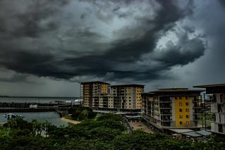 Storm over Darwin Waterfront Precinct