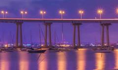 Twinkle Twinkle Little Star (chadmorrow1) Tags: reflection serene bridge longexposure nightphotography coronadobridge