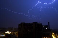 Policejn akademie (Marek Bartk) Tags: storm thunderstorm thunder