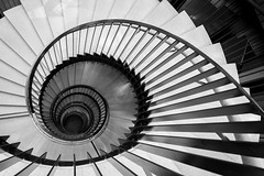 Down The Rabbit Hole (Mabry Campbell) Tags: blackandwhite bw building vertical architecture stairs göteborg spiral photography photo europe photographer image fav50 sweden gothenburg may down fav20 photograph staircase sverige 24mm f56 scandinavia fav30 gert fineartphotography goteborg 160 tiltshift architecturalphotography västragötaland commercialphotography fav10 fav100 2013 fav40 fav60 architecturephotography fav90 fav80 fav70 gertwingårdh tse24mmf35l kuggen wingårdh houstonphotographer ¹⁄₄₀sec eos5dmarkiii mabrycampbell may172013 spicalstaircase 201305170h6a1966