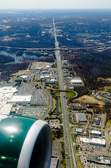 Flying Friday - II (CL Photographs) Tags: bridge misty mall 1 newjersey airport nikon unitedstates sigma mercer arctic route fox airbus quaker frontier trenton a319 ttn lawrencetownship n938fr 1750mm d7000 kttn dvcphoto92